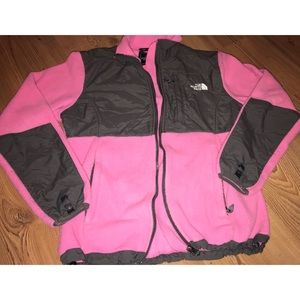 Pink and Gray North Face